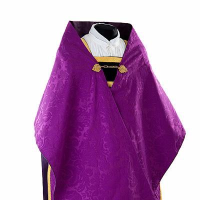 welon liturgiczny z jedwabnego adamaszku