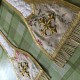 Hand embroidered silk stole