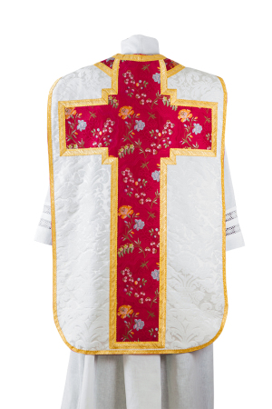 Chasuble in silk damask and lampas