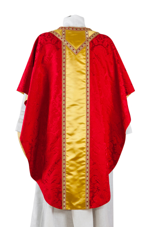 Chasuble in silk damask and satin