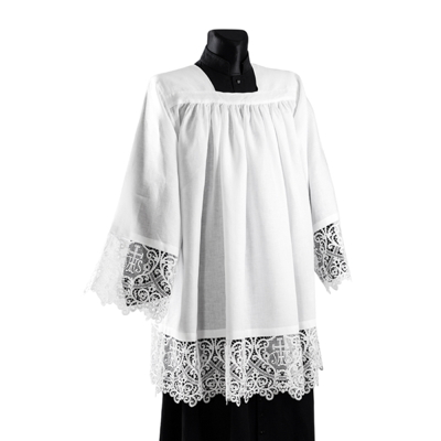 Surplice with Ihs lace