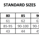Surplice standard sizes